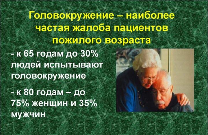Головокружение в пожилом возрасте - причины лечение